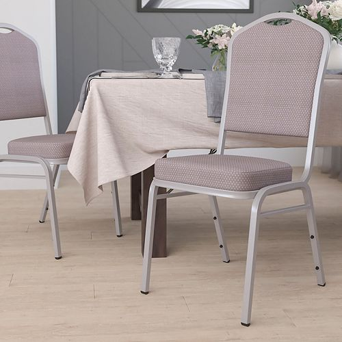 Gray Fabric Banquet Chair