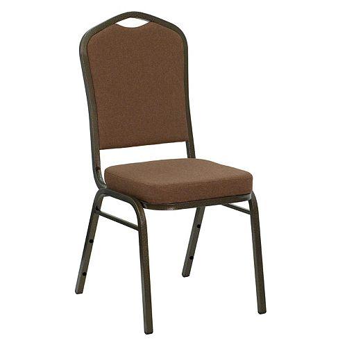 Coffee Fabric Banquet Chair
