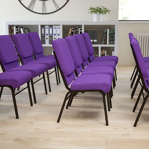 Purple Fabric Church Chair