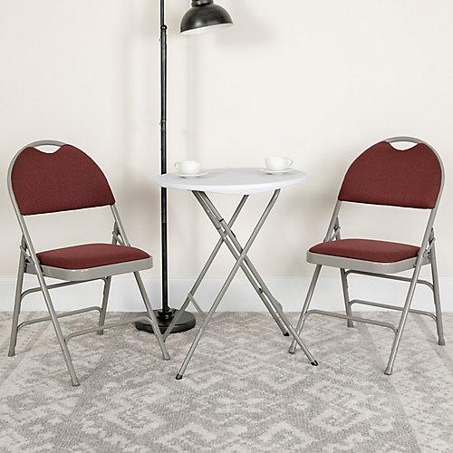 Burgundy Fabric Folding Chair