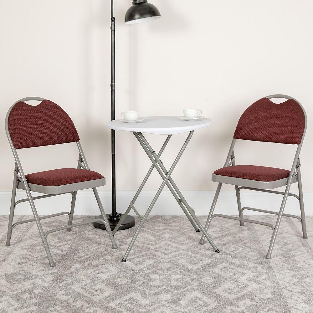 Flash Furniture Chaise pliante en tissu bourgogne