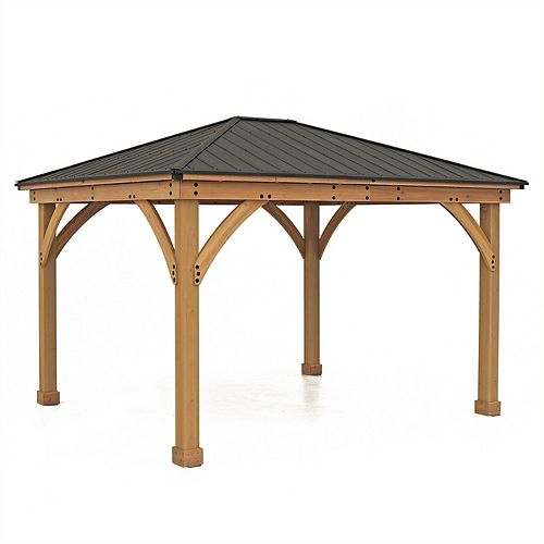 Meridian 11 ft. x 13 ft. Gazebo with Graphite Roof