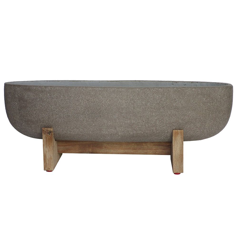 Penelope James 25-inch Oval Raised Planter