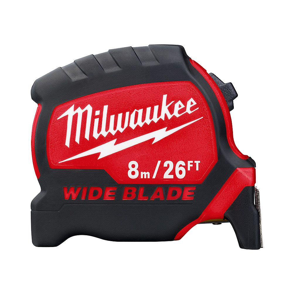 Milwaukee Tool 8 m/26 ft. x 1.3 -inch Wide Blade Tape Measure with 17 ft. Reach