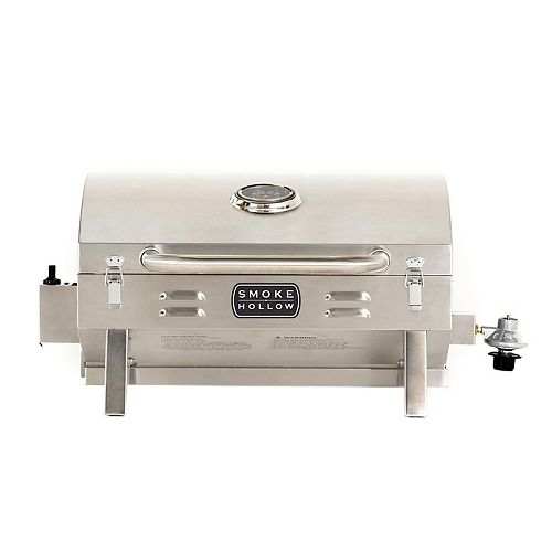 Smoke Hollow PT300B 10,000 BTU Burner Propane Tabletop Grill with 288 sq. Inches of Cooking Surface