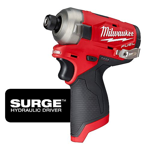 M12 FUEL SURGE 12V Lithium-Ion Brushless Cordless 1/4-inch Hex Impact Driver (Tool-Only)