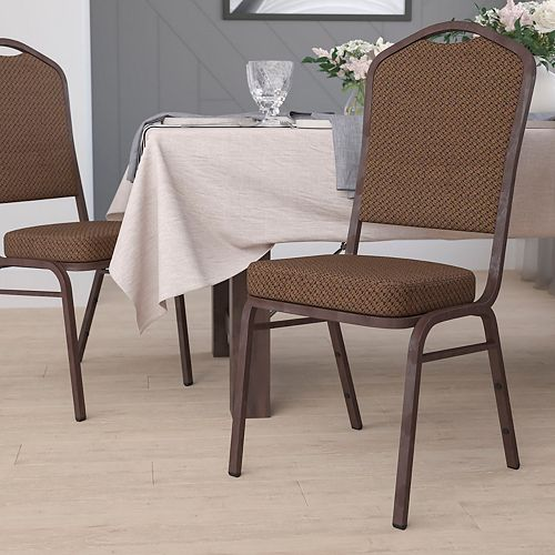 Brown Fabric Banquet Chair