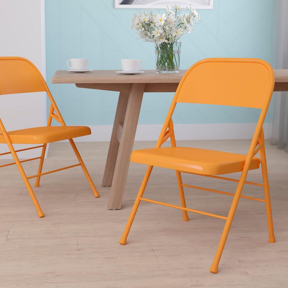 Flash Furniture Orange Marmalade Folding Chair