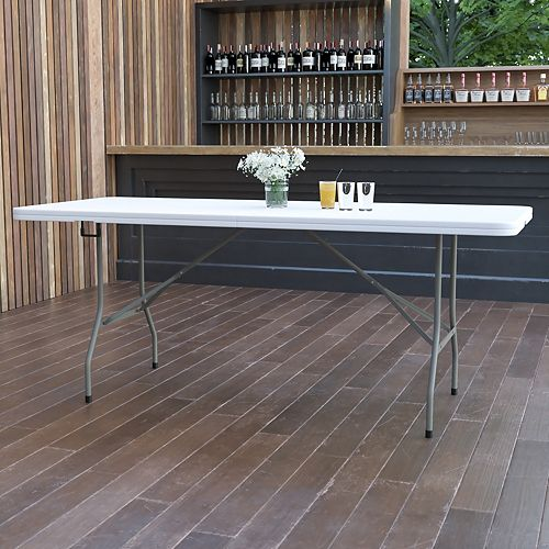 Flash Furniture 30x72 White Bi-Fold Table