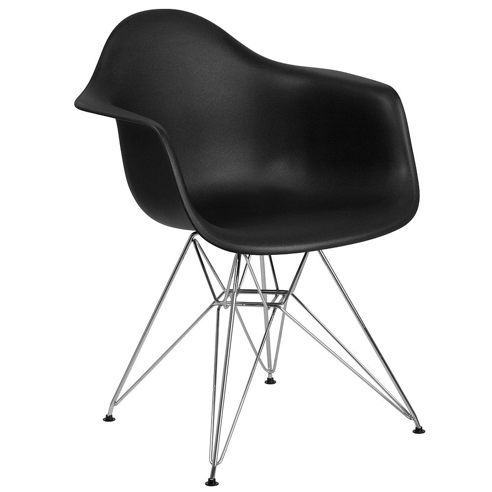 Flash Furniture Black Plastic/Chrome Chair