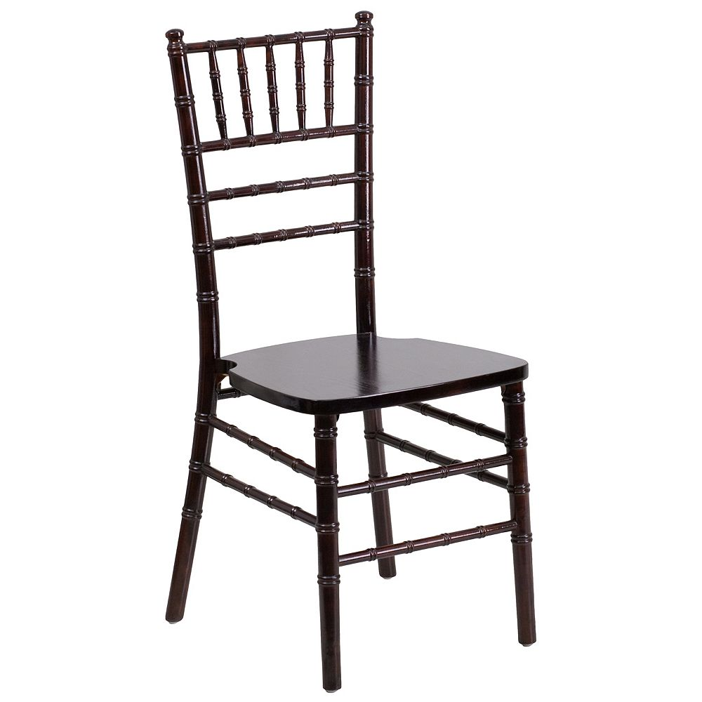 Flash Furniture Walnut Wood Chiavari Chair