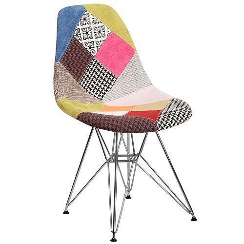 Milan Fabric/Chrome Chair