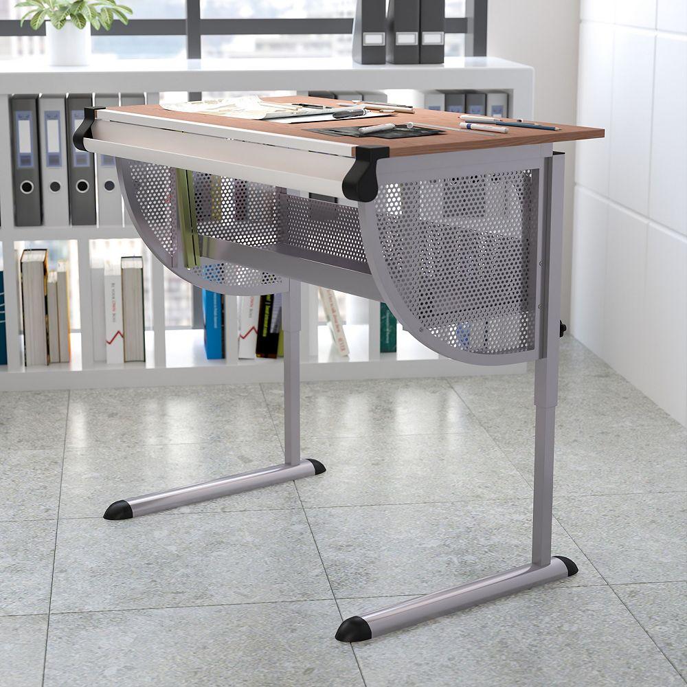 Flash Furniture Cherry Adjustable Draft Table