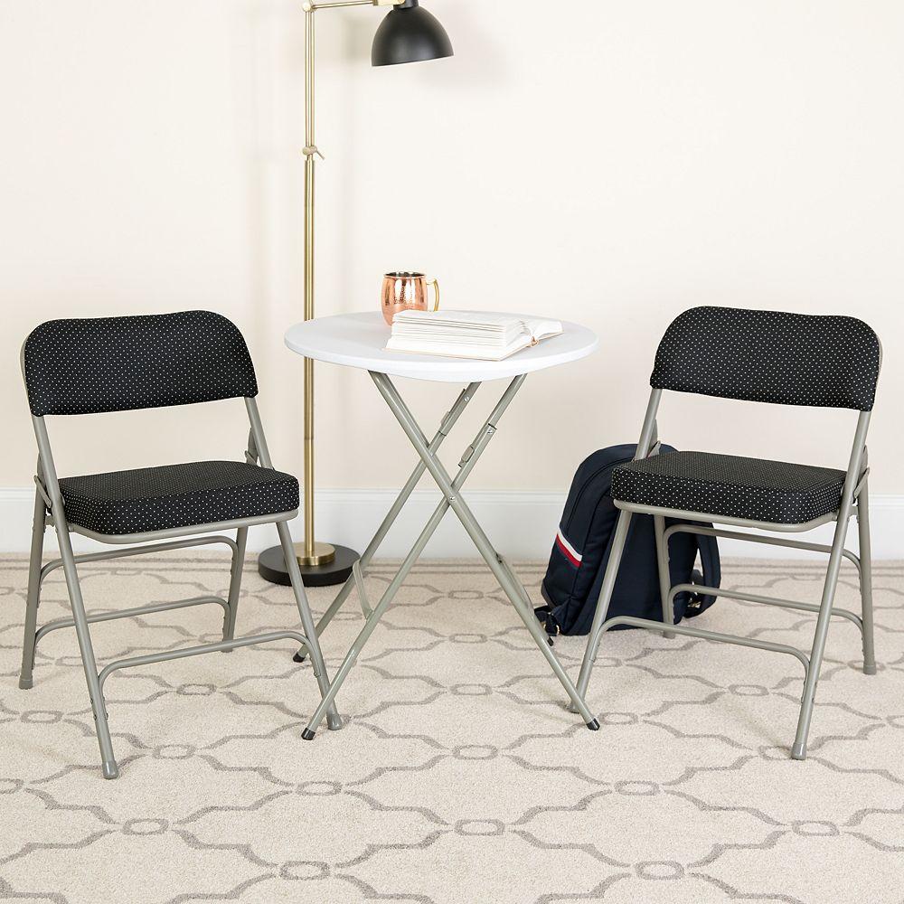 Flash Furniture Black Fabric Folding Chair