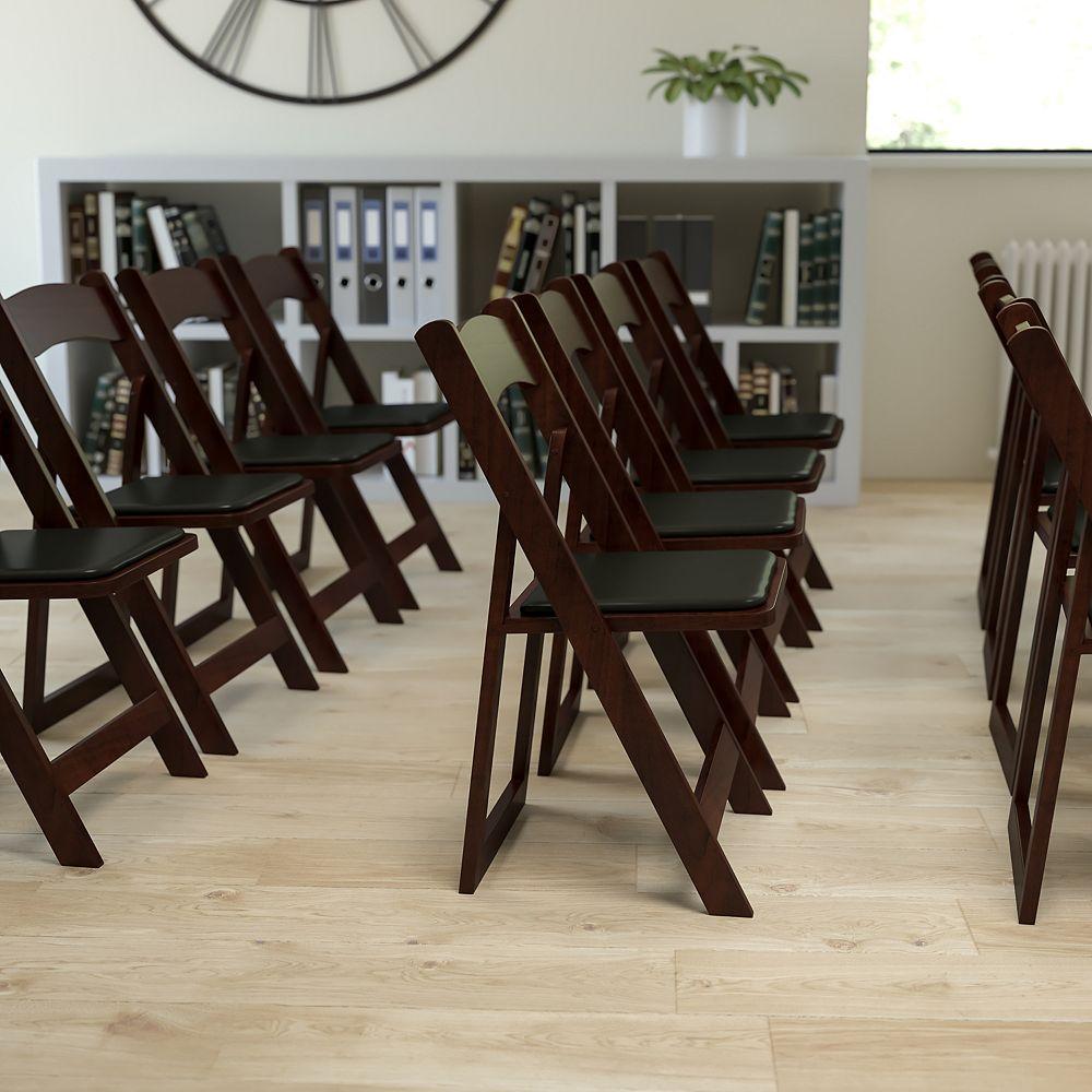 Flash Furniture Mahogany Wood Folding Chair