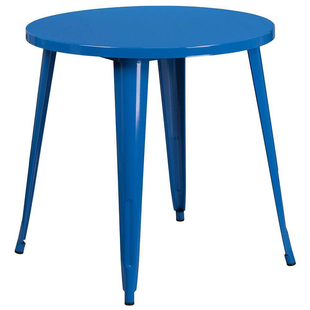 Flash Furniture 30RD Blue Metal Table