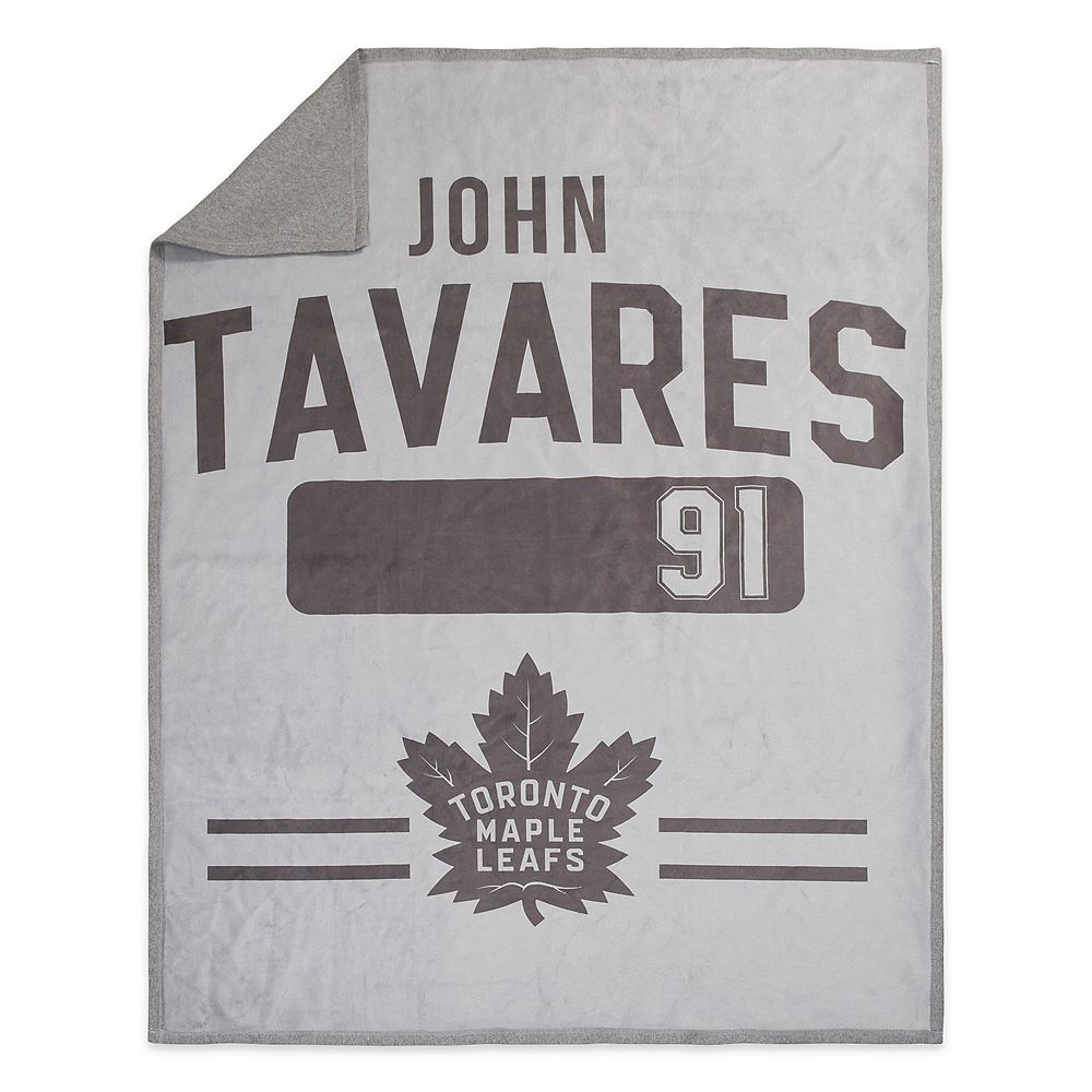 NHL John Tavares Gray 50'' x 60'' Sweatshirt Throw Blanket