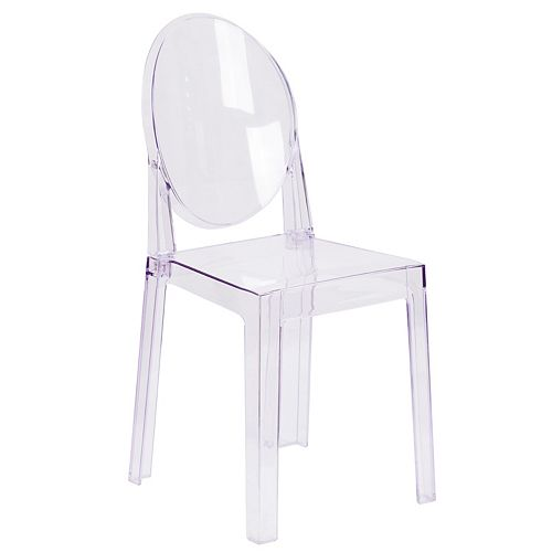Clear Oval Back Ghost Chair