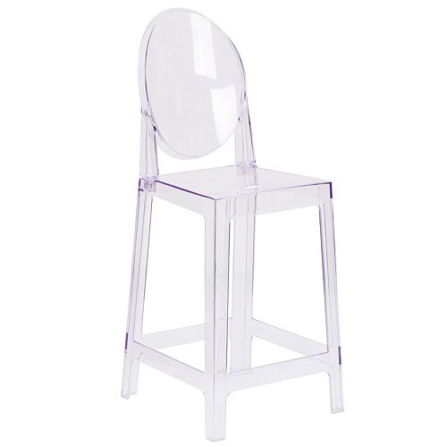 Oval Back Ghost Counter Stool