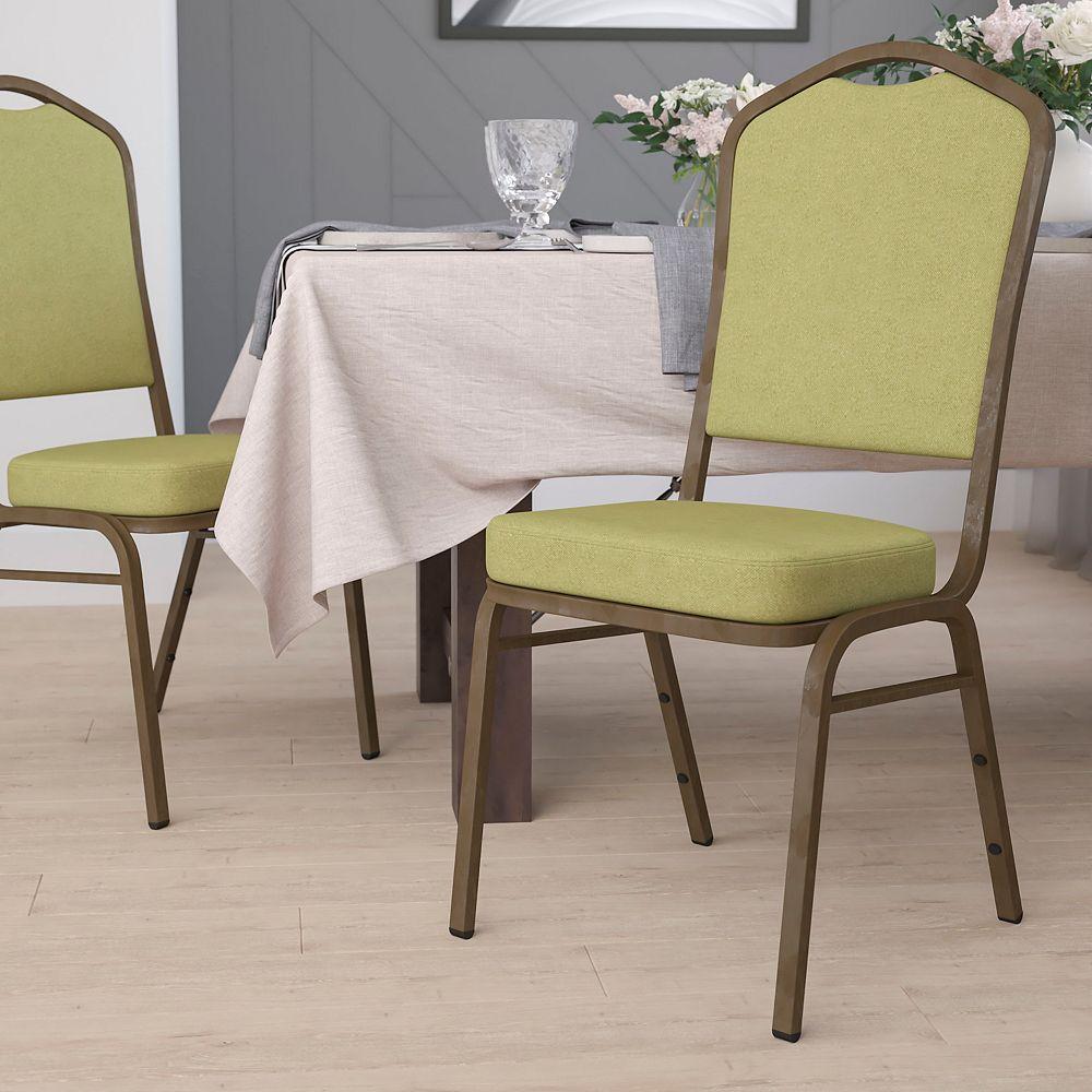 Flash Furniture Chaise de banquet en tissu couleur mousse