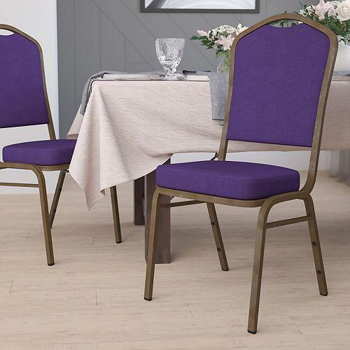 Purple Fabric Banquet Chair