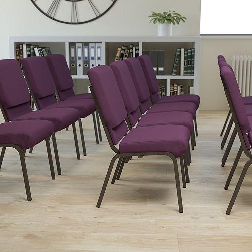 Plum Fabric Church Chair