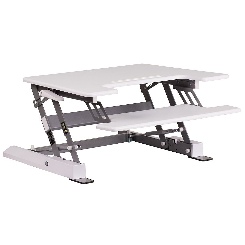 Flash Furniture White Sit/Stand Platform Desk