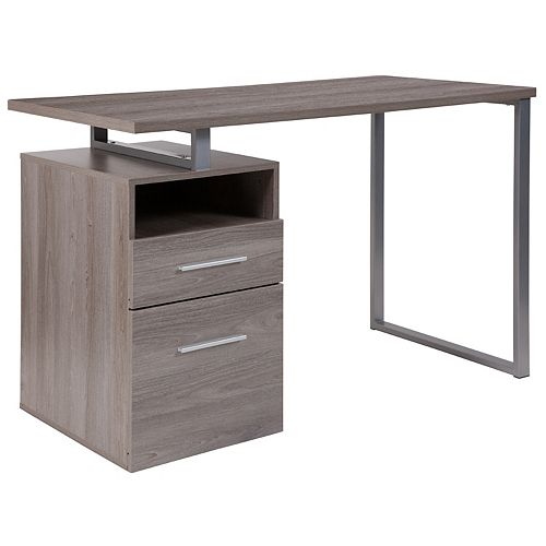 Light Ash 2 Drawer Desk