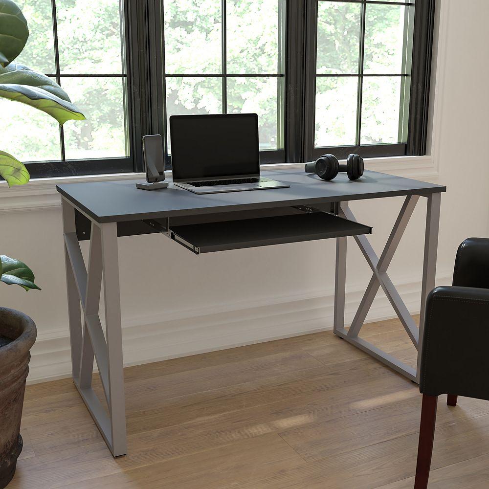 Flash Furniture Black Keyboard Computer Desk