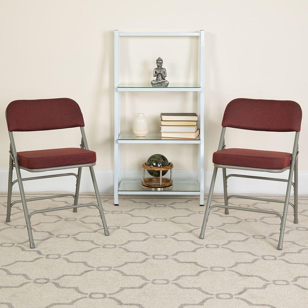 Flash Furniture Burgundy Fabric Folding Chair