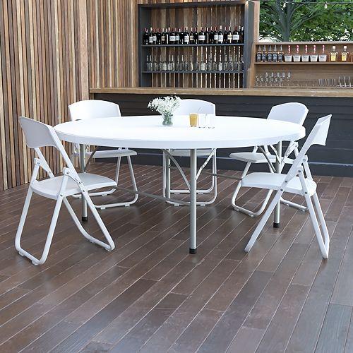 72RD White Bi-Fold Table