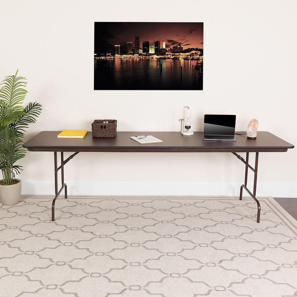 Flash Furniture 30x96 Mahogany Wood Fold Table