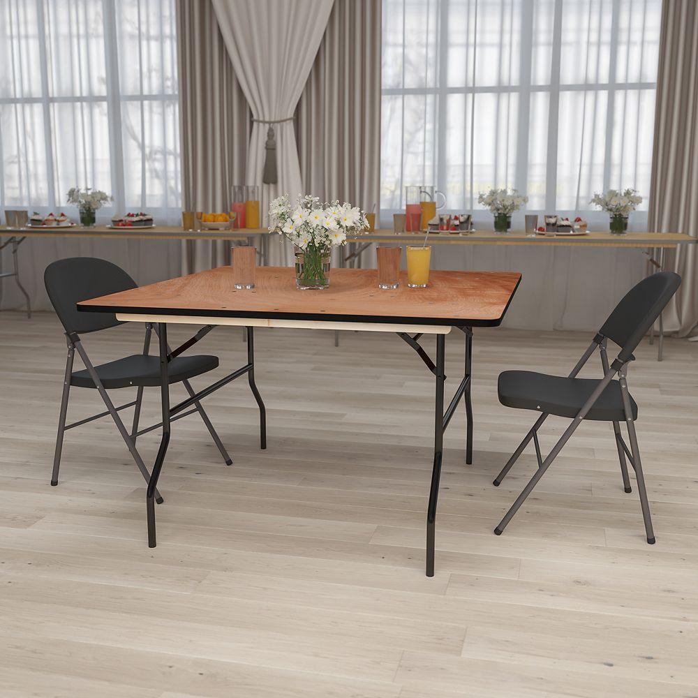 Flash Furniture 48SQ Wood Fold Table