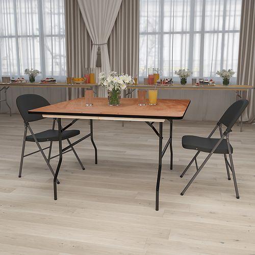 Table de banquet pliante carrée de 48 po en bois