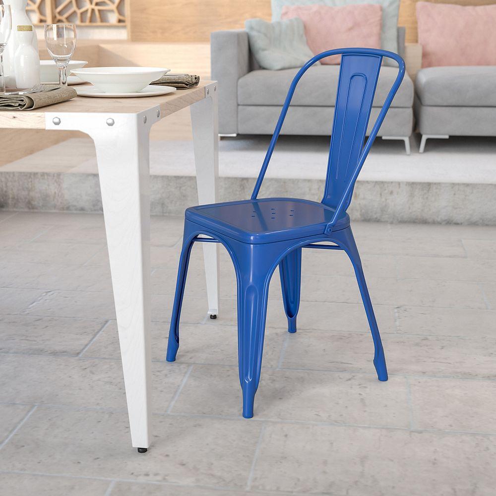 Flash Furniture Blue Metal Chair