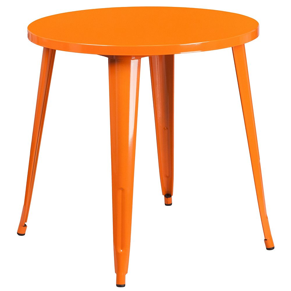 Flash Furniture 30RD Orange Metal Table