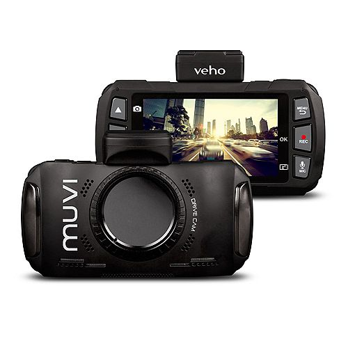 Muvi Drivecam 1080p HD Dash Cam with Wi-Fi, GPS and Motion Detection