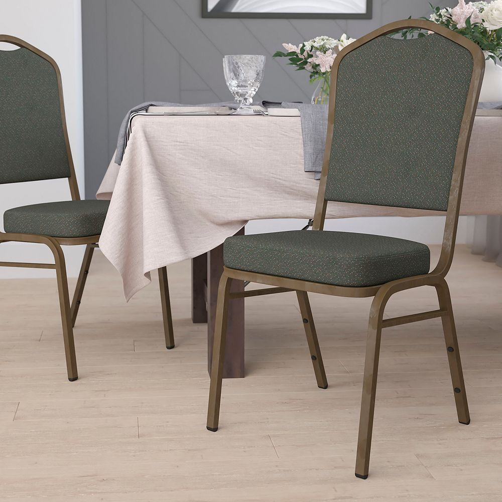 Flash Furniture Green Fabric Banquet Chair