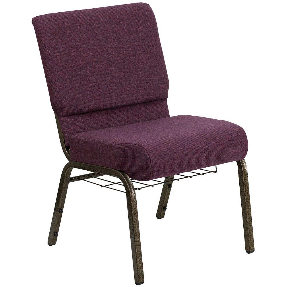 Flash Furniture Plum Fabric Church Chair
