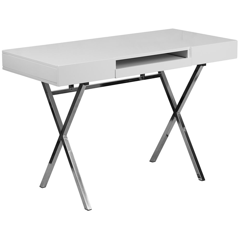 Flash Furniture White Keyboard Desk