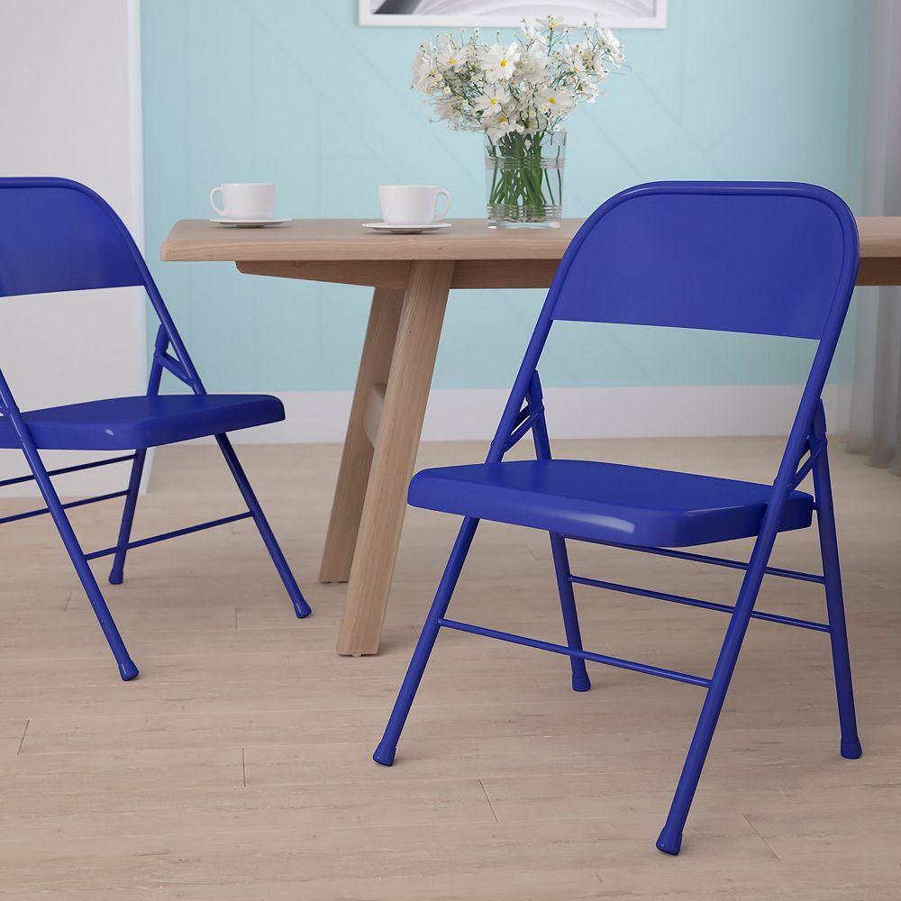 Flash Furniture Cobalt Blue Folding Chair