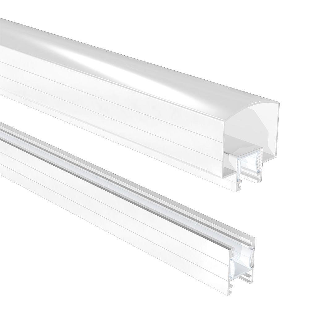 Peak Railblazers 4 ft. Aluminum Deck Railing Hand and Base Rail in White