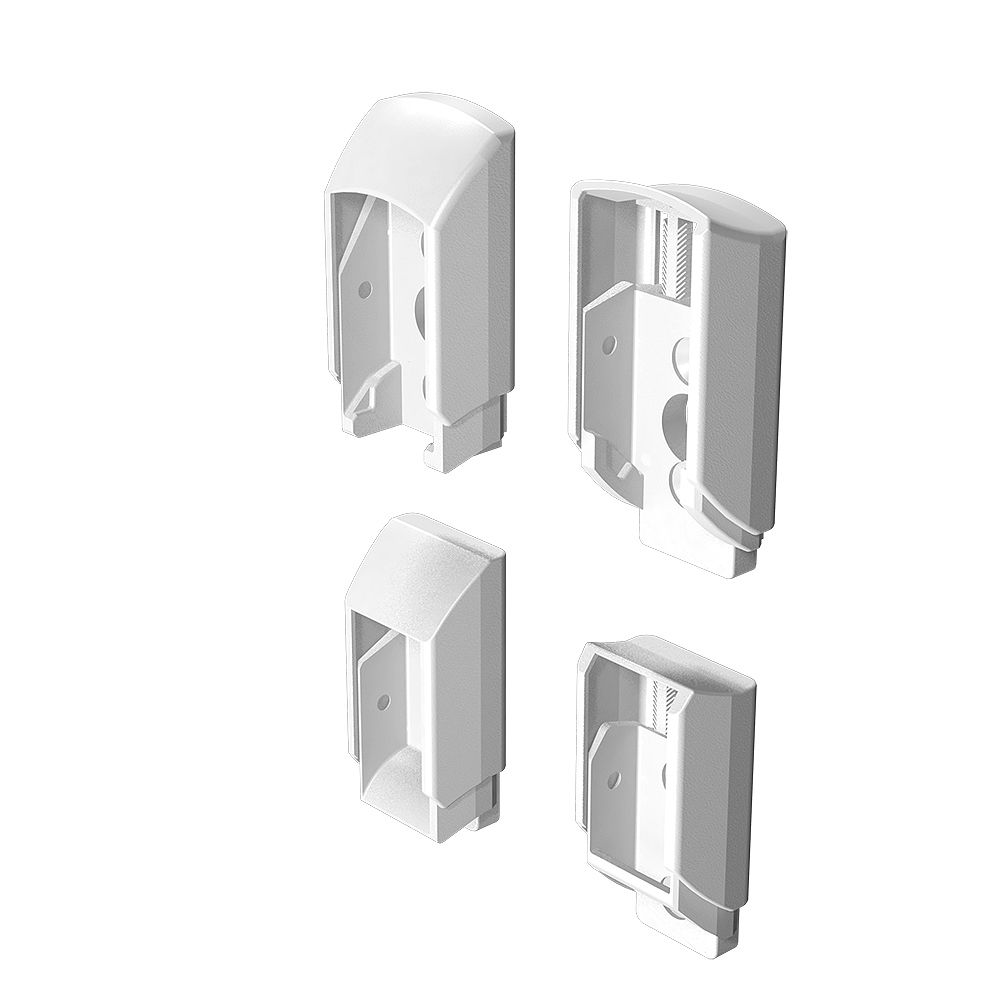 Peak Railblazers Aluminum Deck Railing Stair Bracket Kit in White