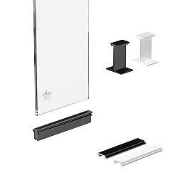 Ensemble de Rampe en aluminium, panneau de verre de rampe en aluminium, 6 po, en claire