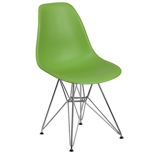 Green Plastic/Chrome Chair