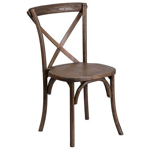 Early Amer. Cross Back Chair