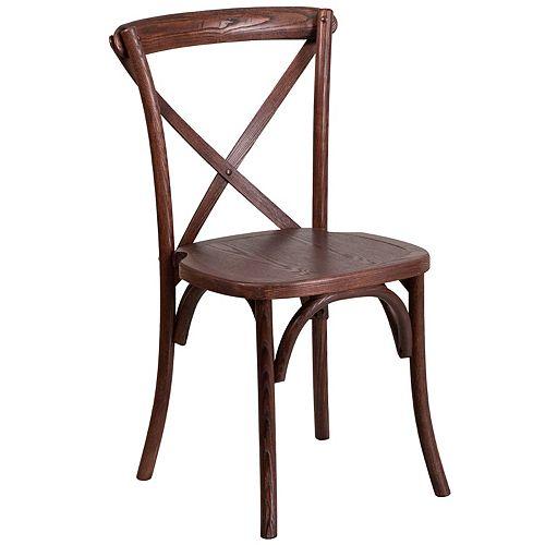 Mahogany Cross Back Chair