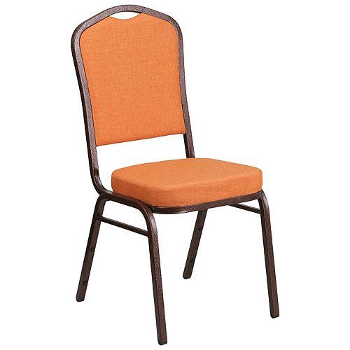 Orange Fabric Banquet Chair