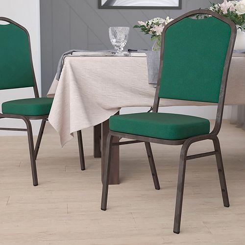 Green Fabric Banquet Chair