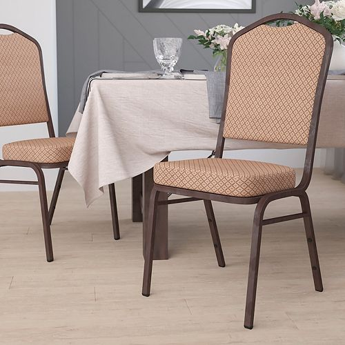 Gold Fabric Banquet Chair
